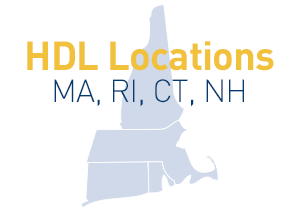 HDL locations can be found in Massachusetts, Rhode Island, Connecticut and New Hampshire.